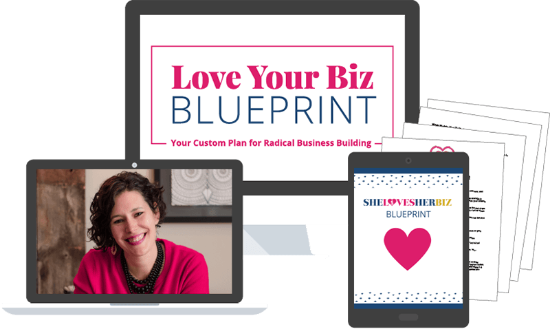 Simple representation of the Love your Biz Blueprint